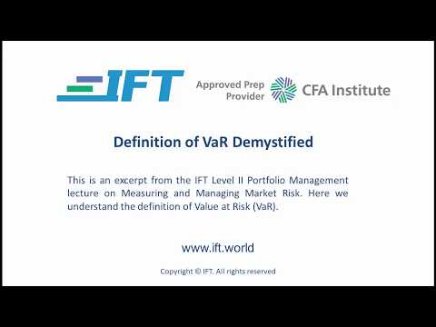 Level II CFA: Definition of VaR Demystified - YouTube
