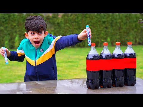 DIY Science Experiment With Soda And Mentos Vlog