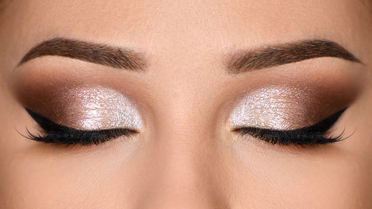 CLASSIC SPARKLY Glam Smokey Eye Makeup Tutorial