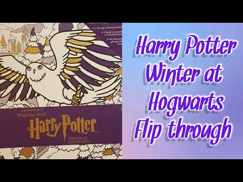 harry-potter-winter-at-hogwarts-coloring-book-flipthrough