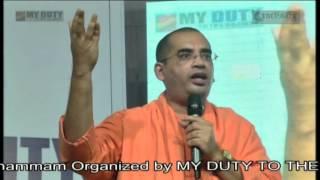 Swami Bodhamyananda maharaj at Khammam IMPACT