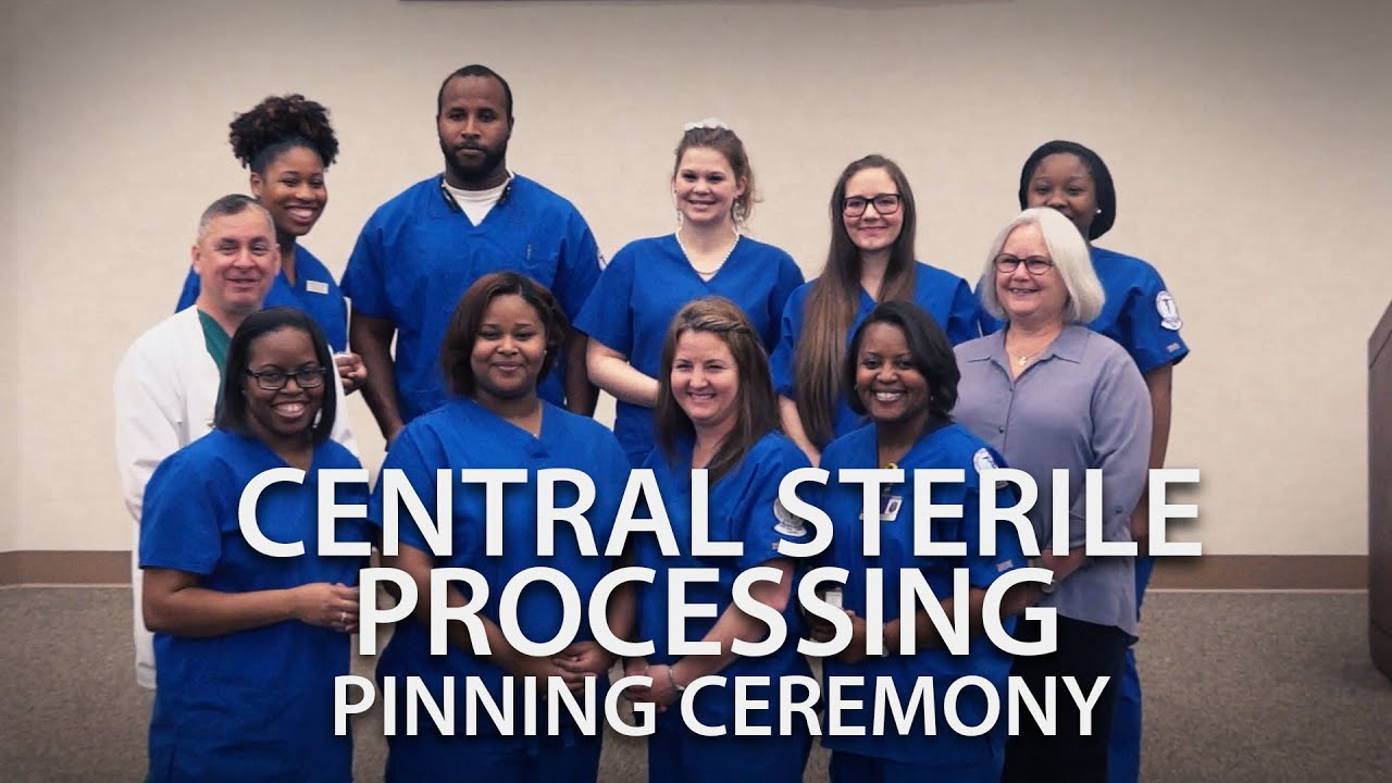 Central sterile processing pinning ceremony youtube central sterile processing pinning ceremony xflitez Choice Image