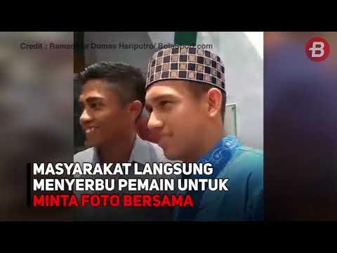 Timnas U 19 Indonesia Kunjung Masjid Al Amin Jember, Jamaah Kaget!