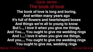 Gavin James - The book of love (with lyrics)