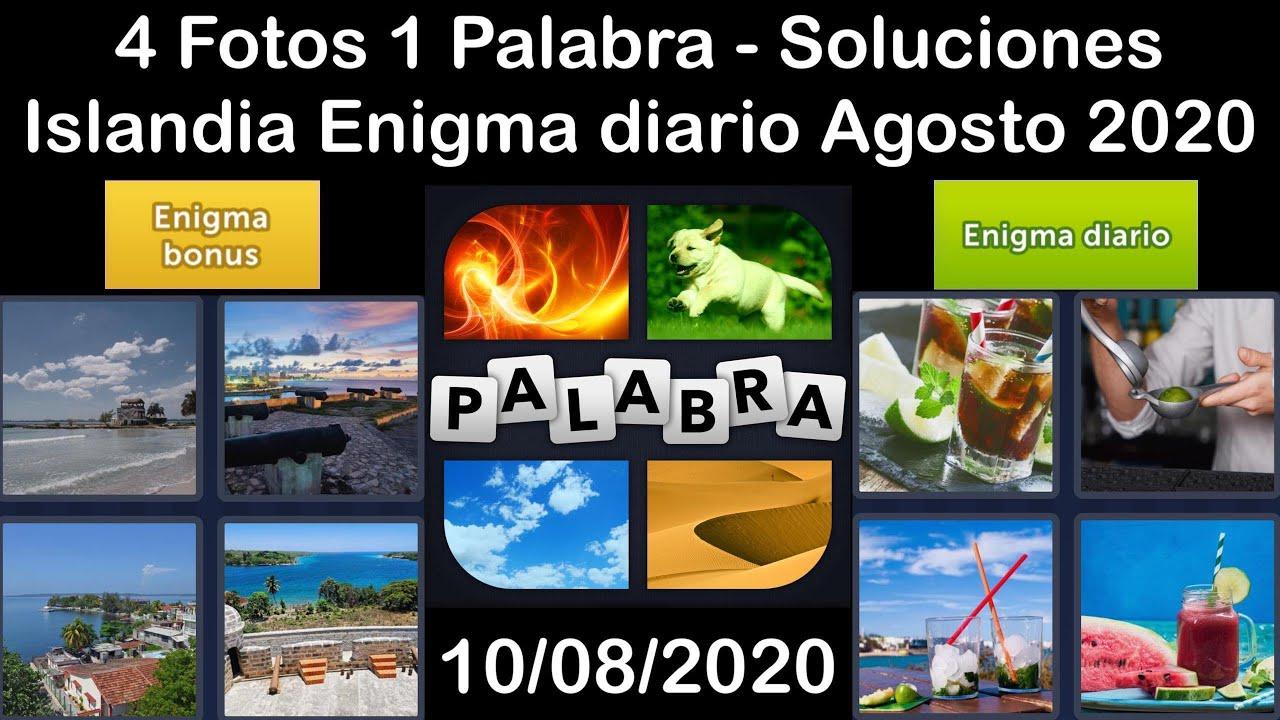 4 Fotos 1 Palabra - Islandia - 10/08/2020 - Agosto 2020 - Enigma diario + Enigma bonus - Solucion