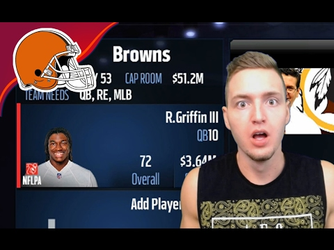 CLEVELAND TRADES RG3! ROBERT GRIFFIN NEW TEAM! - Madden 17 Browns Connected Franchise #10