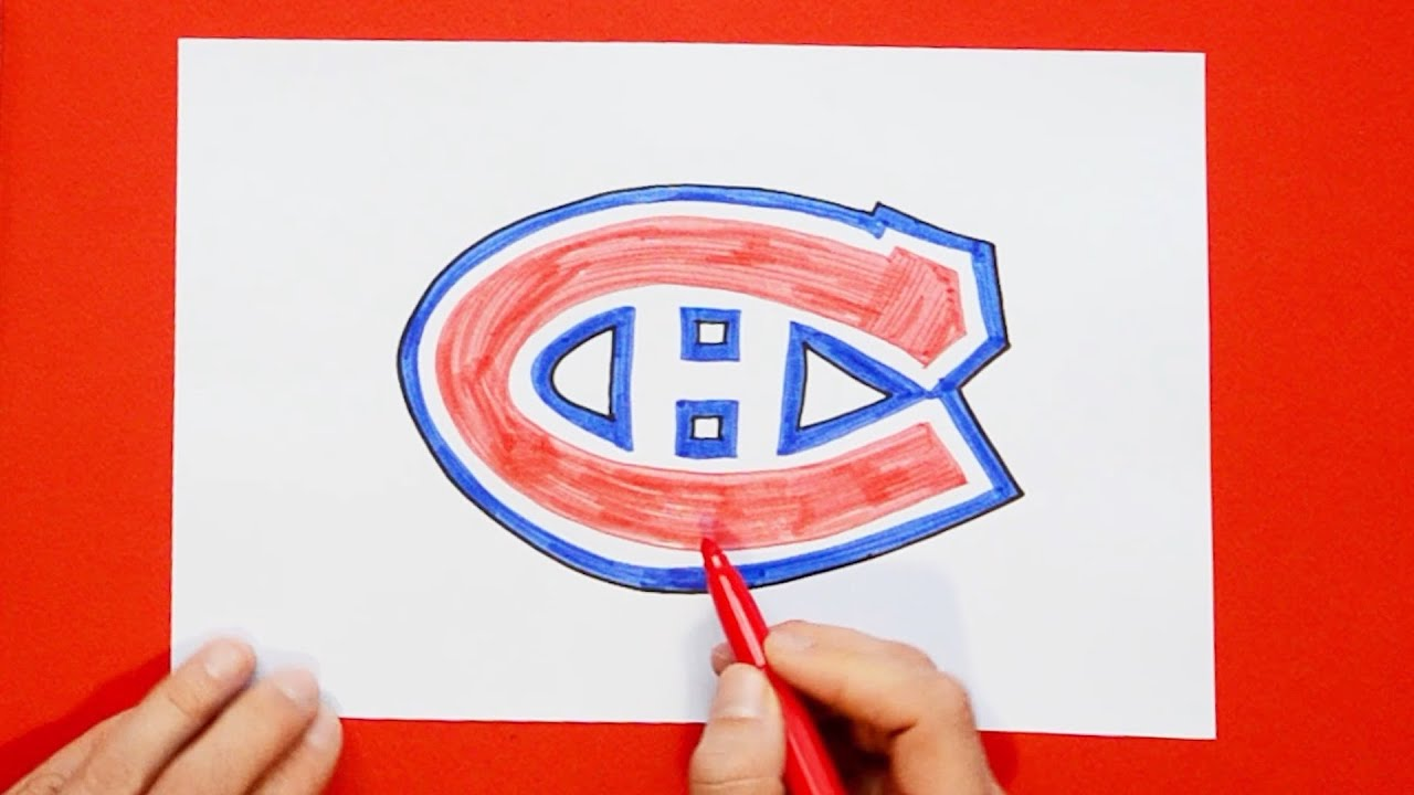 How To Draw Montreal Canadiens Logo Nhl Team Youtube