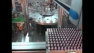 Fully Automatic Mascara Assembly Machine with Glue Dispenser Part 1刷桿點膠機