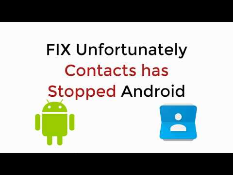 FIX Unfortunately Contacts Has Stopped Android ALL PHONES  UPDATED 2019 100% WORKING