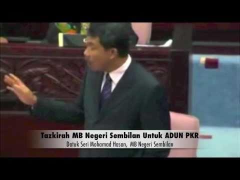 Tazkirah MB Negeri Sembilan Untuk ADUN PKR