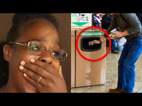 Lady Sees Crying Man Forced To Throw Package In Trash 鈥� What She Digs Out Is Heartbreaking