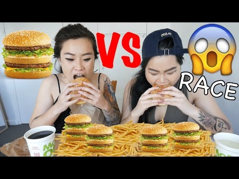 BIG MAC CHALLENGE | RACE | MUKBANG | EATING SHOW
