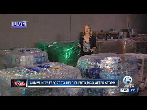 Community effort to help Puerto Rico after storm