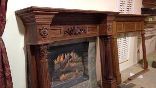 The Philadelphia Mantel (oak With Custom Stain) - Custom Fireplace Mantels