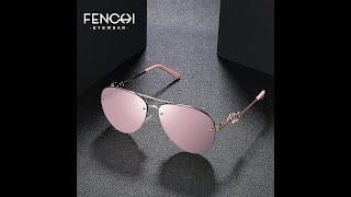 Женские солнцезащитные очки в стиле ретро fenchi брендовые дизайнерские для вождения модные