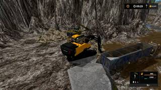 Farming simulator 17 - Mining and construction economy timelapse ep#1