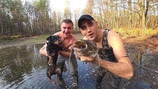 Никто не ожидал такое поймать в болоте Ловля руками Виталиком Зеленым