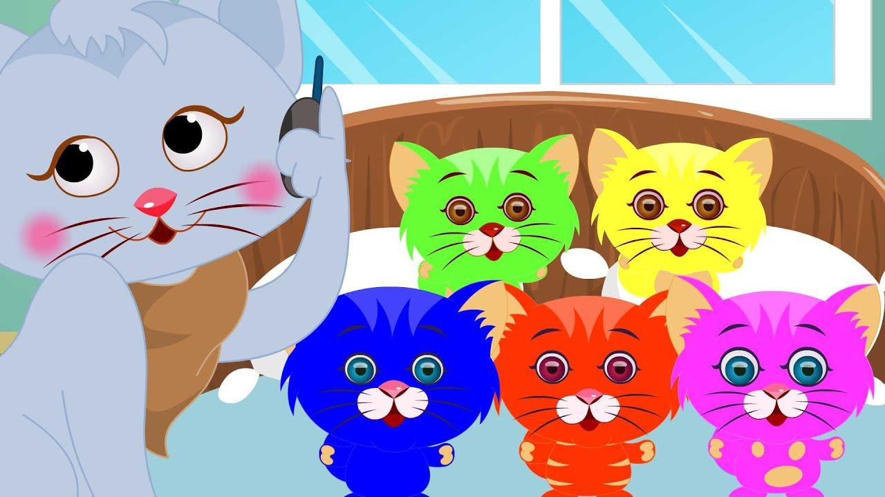 Five Little Kittens Five Little Kids Songs With Lyrics