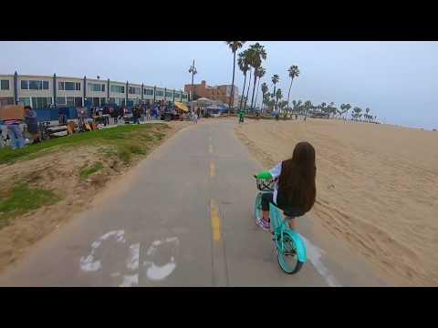 Most Popular Bike Path - Santa Monica to Venice Beach - POV