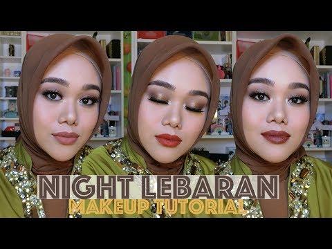 NIGHT HARI RAYA LEBARAN MAKEUP TUTORIAL (HIGH END PRODUCTS) | FATYABIYA