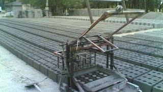 видео Станок для производства бетонных блоков своими руками