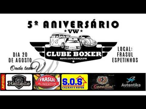 Convite  do 5º Aniversário VW Clube Boxer & Cia de Nova Esperança - PR