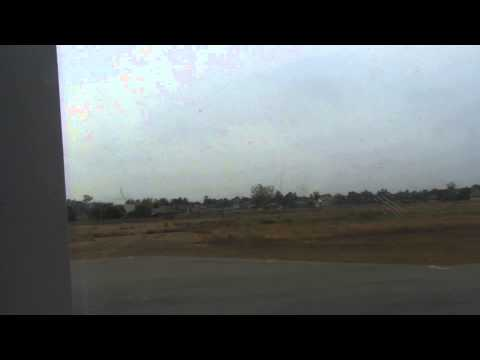 Airbus A320 takeoff from Pakse airport, Laos