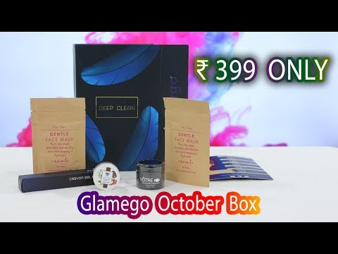 Glamego Subscription Box - October 2018 | Unboxing | Deep Clean - Tamil Beauty Tips
