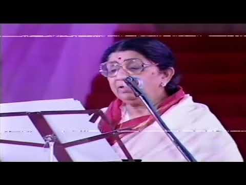 Tere Bina Zindagi Se Lata Mangeshkar Live Millennium Concert   YouTube