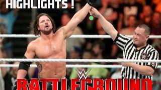 wwe battleground 2016 john cena vs aj styles highlights hd