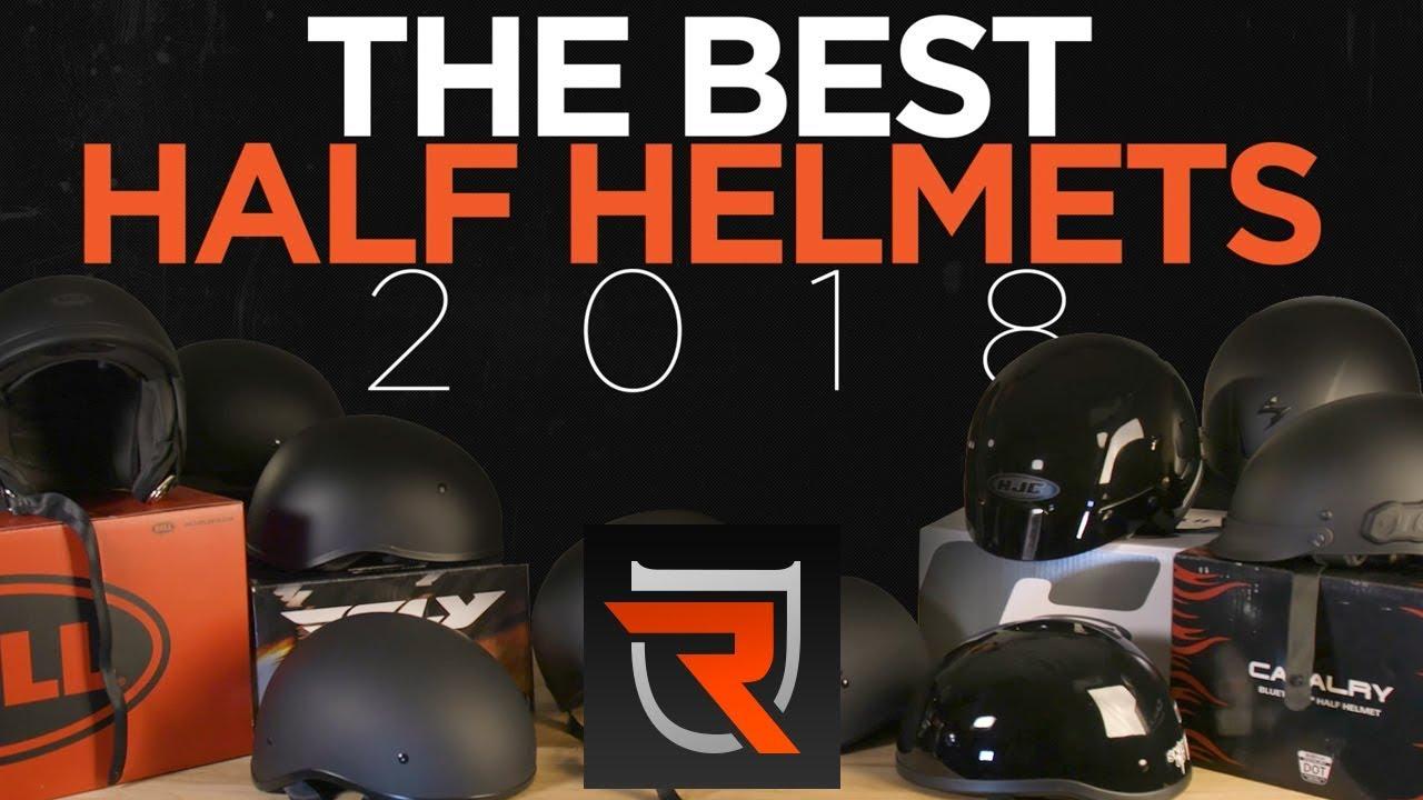 Best Low Profile Dot Half Helmets Of 2018 Riders Domain Youtube