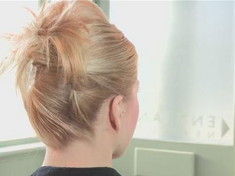 How To Put Short Hair In An Updo Youtube