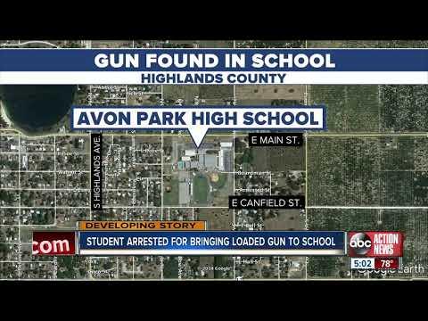Student arrested after bringing gun to Avon Park High School
