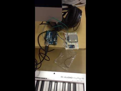 Arduino Tiny Music Visualizer at Piscataway Public Library's Summer of Make