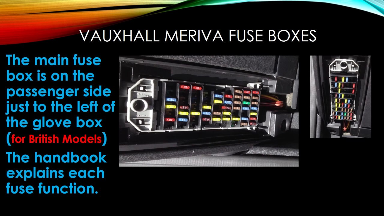 Where Is Fuse Box Vauxhall Combo : Vauxhall meriva fuse box layout wiring diagram images