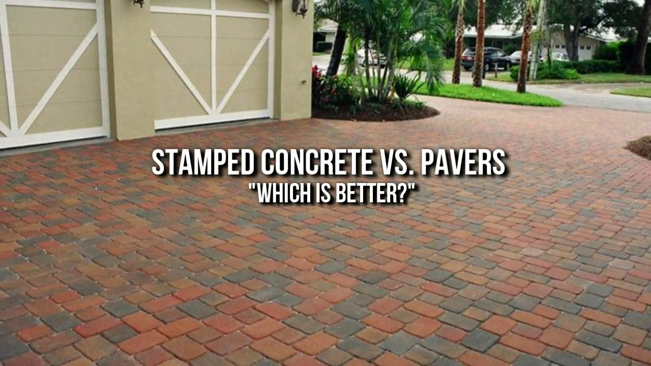 Stamped Concrete Houston Vs. Pavers: Which Is Better