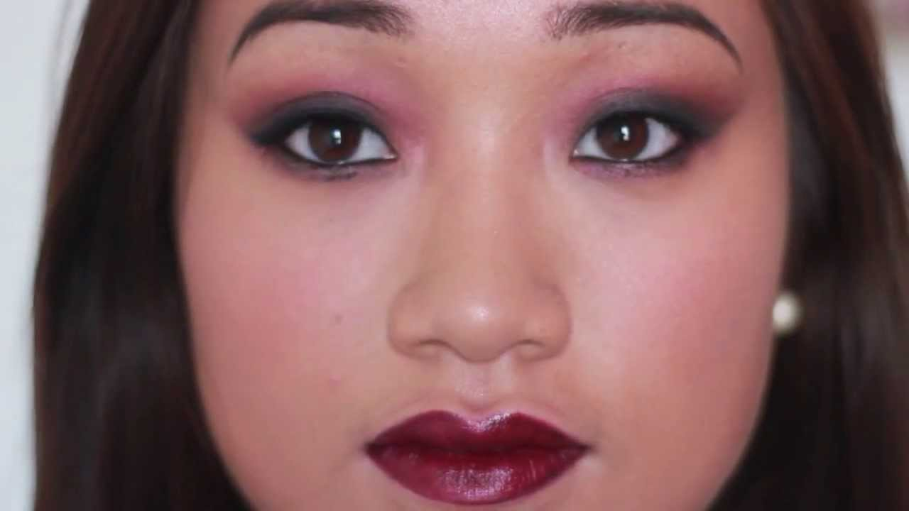 Maquillage halloween vampire pour yeux asiatiques vampire halloween makeup for monolid eyes - Maquillage yeux halloween ...