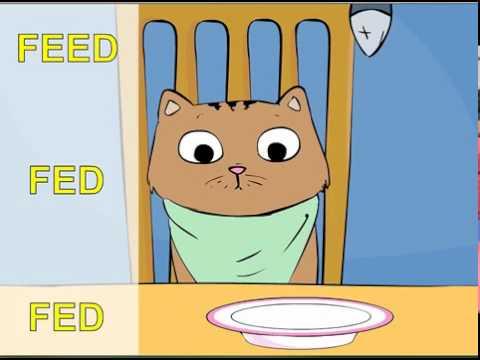 Irregular verbs song, Max the Cat, Part 1