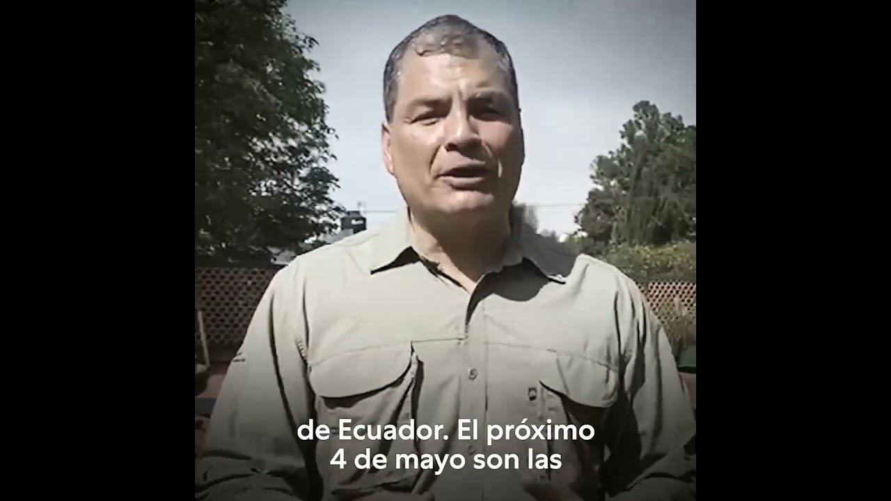 Mensaje de #RafaelCorrea a los Ecuatorianos en la Comunidad de Madrid. 🇨🇴