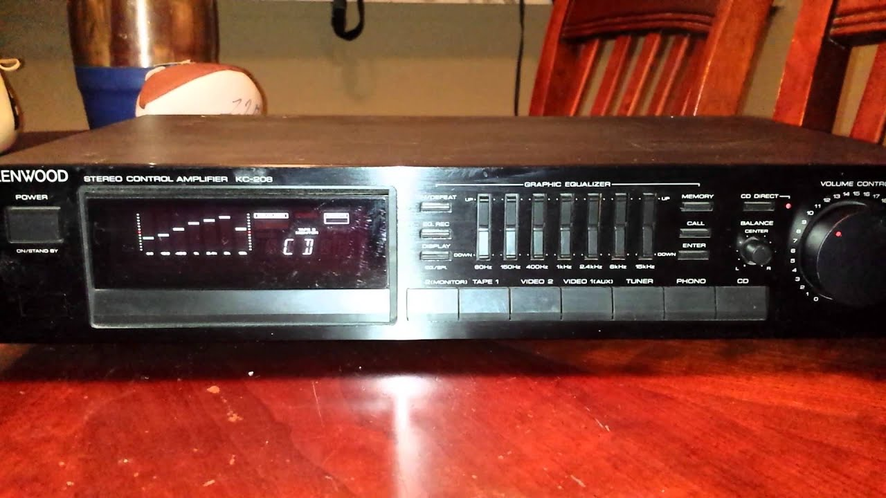 Kenwood Stereo Control Amplifier Kc 208