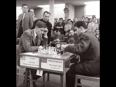 Bobby Fischer's Chess: Olympiad game with Mikhail Tal - Leipzig 1960 Olympiad - French Defence