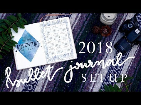 My 2018 Bullet Journal Setup + January Plan with Me!