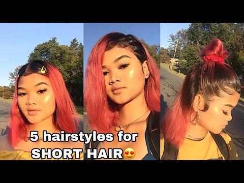 5 TRENDING hairstyles for SHORT HAIR‼️