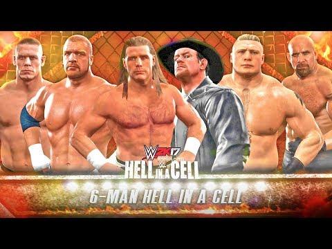 WWE 2K17 Shawn Michaels Vs Undertaker Vs Triple H Vs Brock Lesnar Vs John Cena Vs Goldberg | HIAC