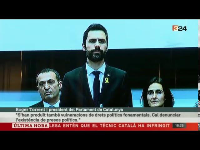 La cúpula judicial catalana planta a Torrent por hablar de presos políticos
