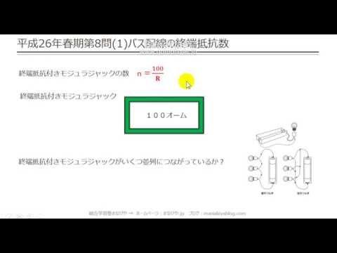 【工担・総合種】平成26年春_技術_8-1(バス配線の終端抵抗数)