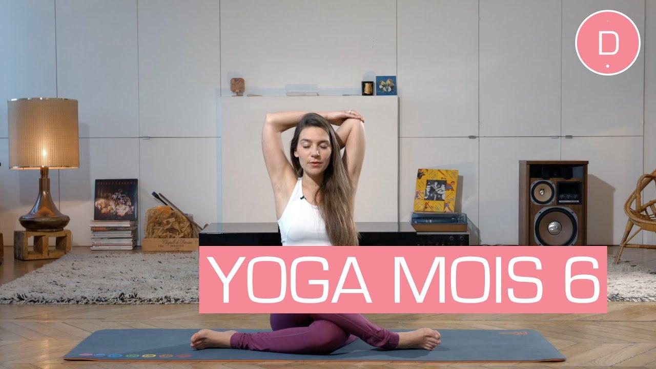 Populaire Yoga prénatal - 6ème mois de grossesse - YouTube WF77