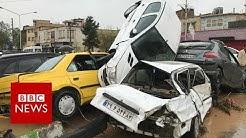 Iran flood: Dozens killed and homes damaged after heavy rain - BBC News