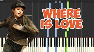 Where is Love-Oliver (Piano Tutorial Synthesia)