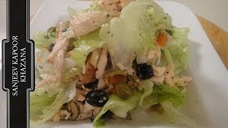 Olive And Grilled Chicken Salad | Sanjeev Kapoor Khazana